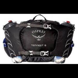 NWT Osprey Tempest 6 Waist Pack Black:two bottles